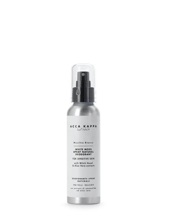 Acca Kappa  Muschio Bianco  Deodorante Spray Naturale  http://www.accakappa.com/it/c/3/corpo.html