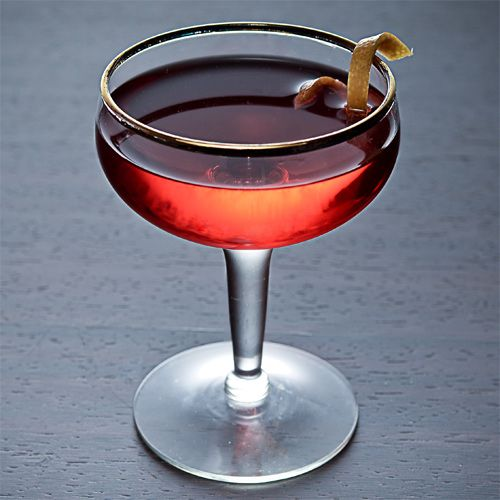 This sounds interesting.   •1 oz Bourbon  •1 oz Campari  •1 oz Sweet vermouth  Garnish: Orange twist. Glass: Rocks or cocktail.  Add all the ingredients to a mixing glass and fill with ice. Stir, and strain into a rocks glass filled with fresh ice or a cocktail glass. Garnish with an orange twist.