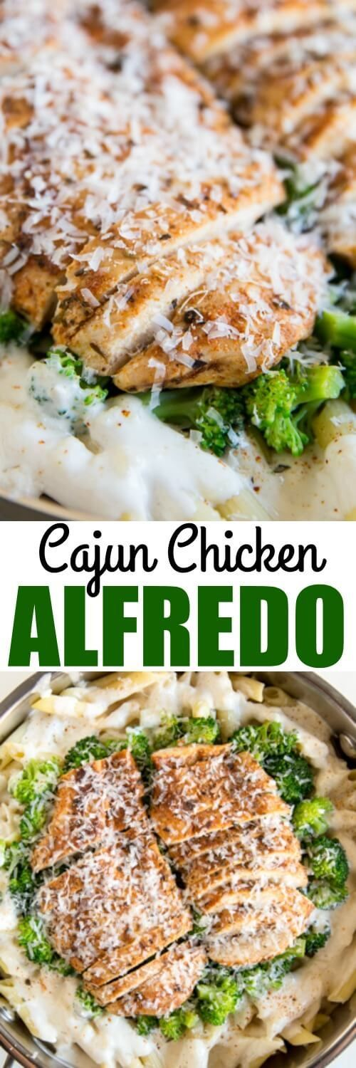 A popular restaurant dish, this Cajun Chicken Alfredo is updated with broccoli, homemade cajun seasoning, and the creamiest, cheesiest Alfredo sauce!