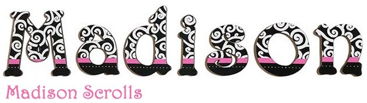 these hand painted wall letters were created for a perfect match to jojo designs madison black
