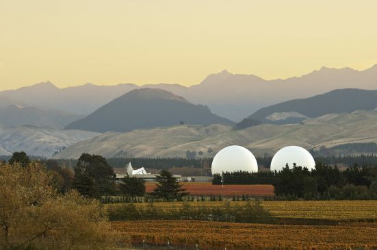 """Spy Valley Wine - Galleries – Photography – The Spy Base a.k.a. """"International satellite communications monitoring station"""" Nothing to see, move along ..."""
