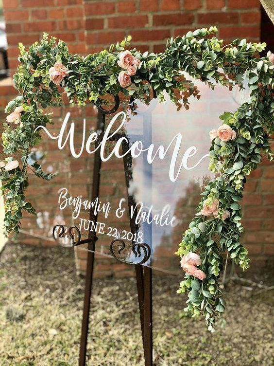 60+ Prettiest Spring Ideasdiy wedding sign with