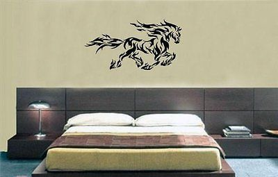 Horse in Flames Flamed Mustang Tattoo Horse Wall Art Sticker Decal D-18