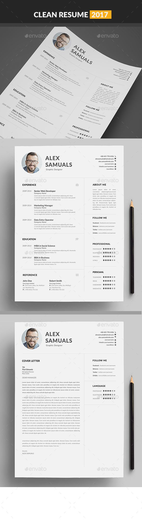Resume Template Resumes Stationery 3577 best