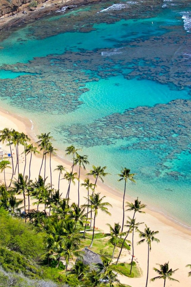 Hanauma Bay | Oahu, Hawaii, I remember snorkeling here, all the beautiful fish in the rocks. The beautiful water.