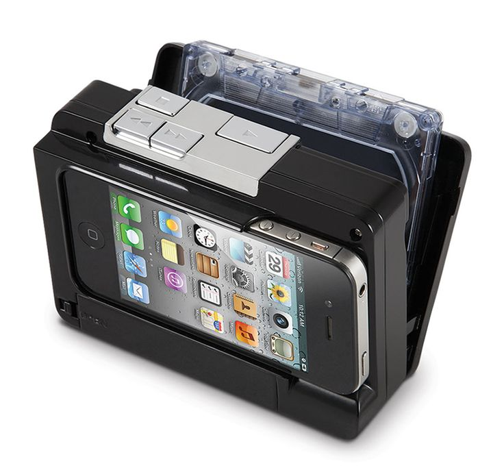 Cassette to iPhone. Great design and super smart!