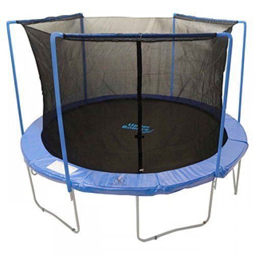 Net for 14ft Trampolines Enclosure using 3 Arches and Sleeves by Super Trampoline - http://www.exercisejoy.com/net-for-14ft-trampolines-enclosure-using-3-arches-and-sleeves-by-super-trampoline/fitness/