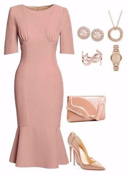 Preciosos y elegantes outfits en tonos rosa y nude...