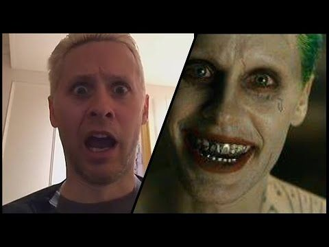 Jared Leto Reacts To Himself As The Joker In #‎SuicideSquad‬ ! - YouTube