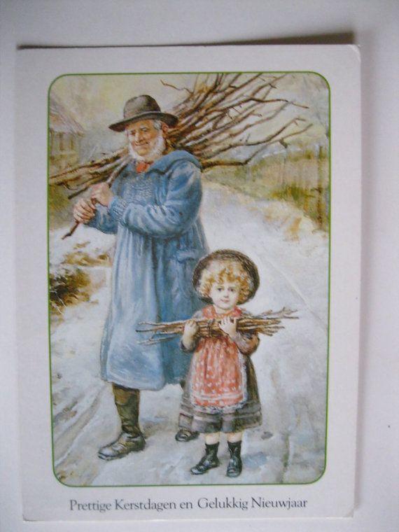 SALE Vintage Christmas Postcard. 1980 Era by grandma62 on Etsy