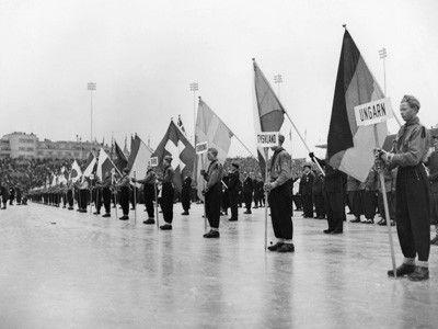 Eröffnung Winterspiele 1952 Oslo