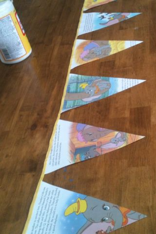 Dumbo Golden Book bunting for baby shower decoration and can go in baby's room afterwards