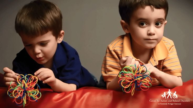 "This video from the Kennedy Krieger Institute, in Baltimore, features three children who show early signs of autism spectrum disorder playing with toys and interacting and communicating with others. It compares the footage on each of these children to that of typical children in the same situations. ""It helps parents to articulate to their pediatrician any behaviors that concern them,"" says Rebecca Landa, Ph.D., director of the Center for Autism and Related Disorders."