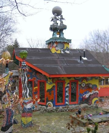 Luna Parc: one of the most quirkypretty houses in NJ COLORFUL EXTERIOR, CHIMNEY