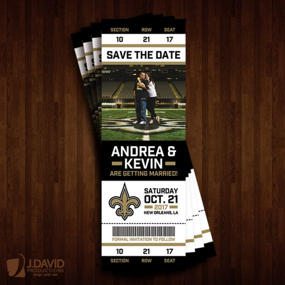 New Orleans Saints Save the Date Ticket by JDavidProductions