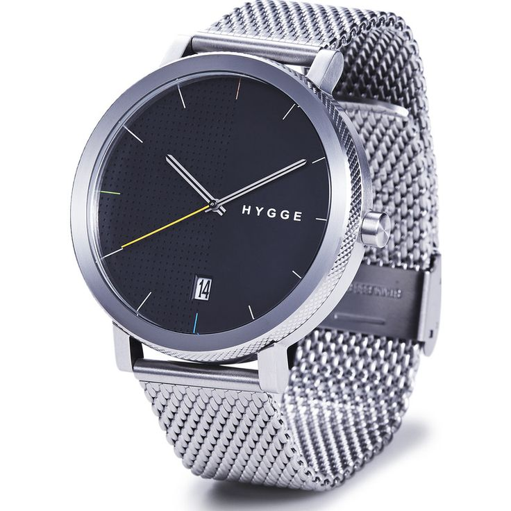 Hygge 2203 Black Watch | Silver Stainless Steel