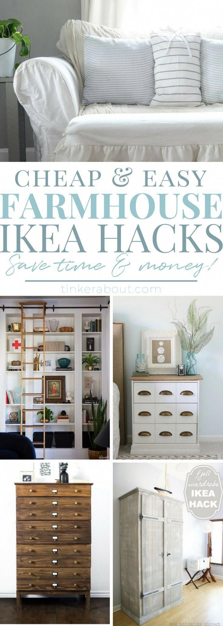 Update your home on a budget with these AMAZING Farmhouse Style Ikea Hacks! It w…