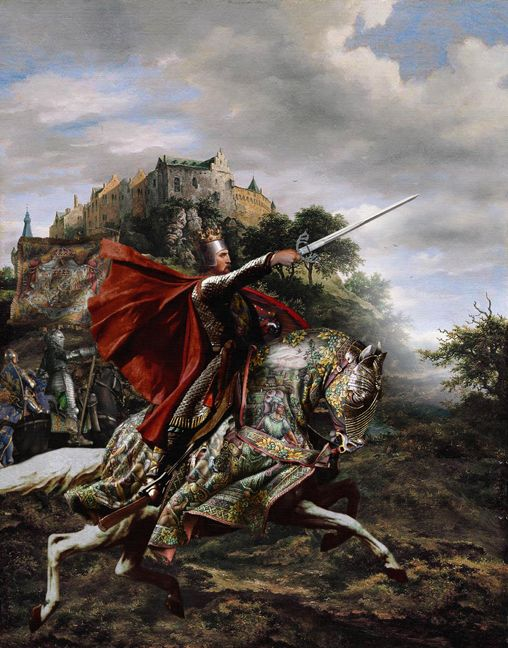 King Arthur & the Knights of the Round Table; Paintings of the Arthurian legends by Howard David Johnson