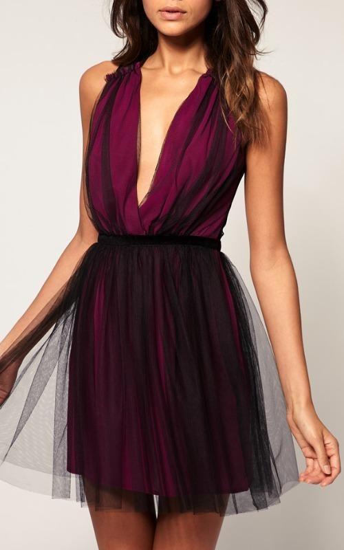 ASOS Party Dress in Mesh $99.99 | www.diyfashion.com