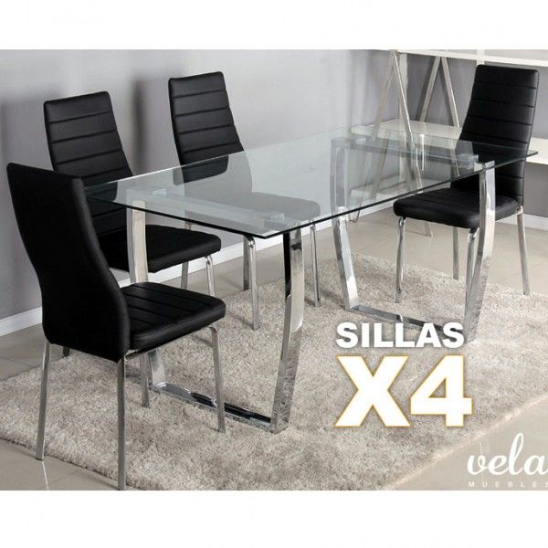 17 best images about conjuntos de mesas y sillas de for Comedor con banca y sillas