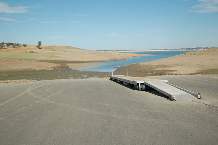 This image from 2007 shows the last time water levels were extremely low at Folsom Lake Marina.