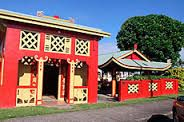 Beautiful Art Deco architecture. Innisfail North Queensland. Chinese temple.