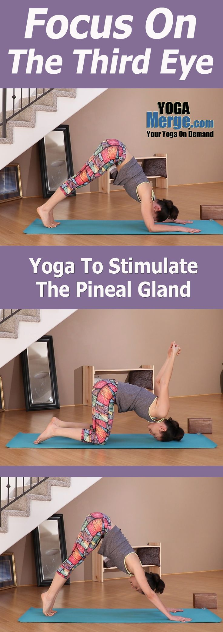 Try out a yoga class with Ariana that will work to stimulate your Pineal Gland or Third Eye. This class will use numerous simple inversions and forward folds to increase blood flow to the brain. Full preview on the site. Online yoga classes for your home practice.
