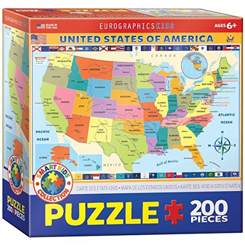 Best Kids Unit Study Usa Images On Pinterest White - Best us map puzzle for kids