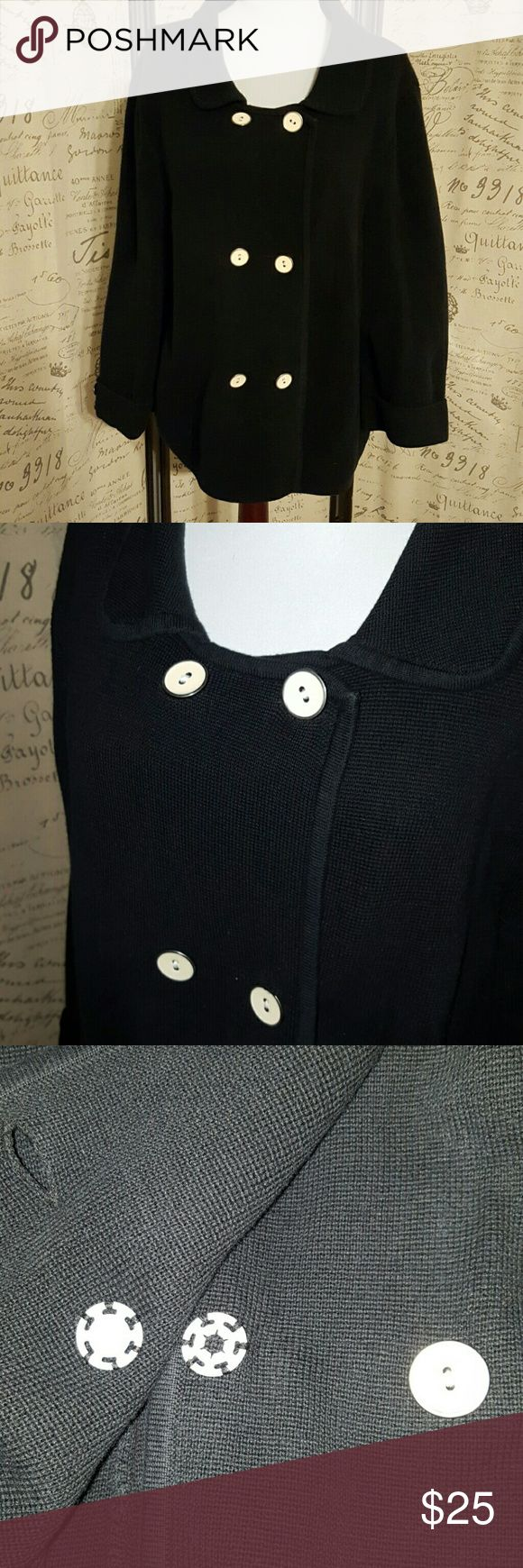 Old Navy Black Pea Coat size XXL Old Navy Black Pea Coat size XXL .100% cotton. Machine washable. Nice thick sweater like peacoat. The bottom inside button and the top inside button snap for extra security as shown in the third picture. Old Navy Jackets & Coats Pea Coats