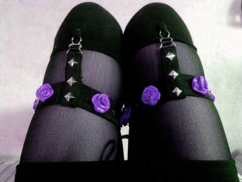 Garter Belt Lace Wthong Black Plus Size Tattoo