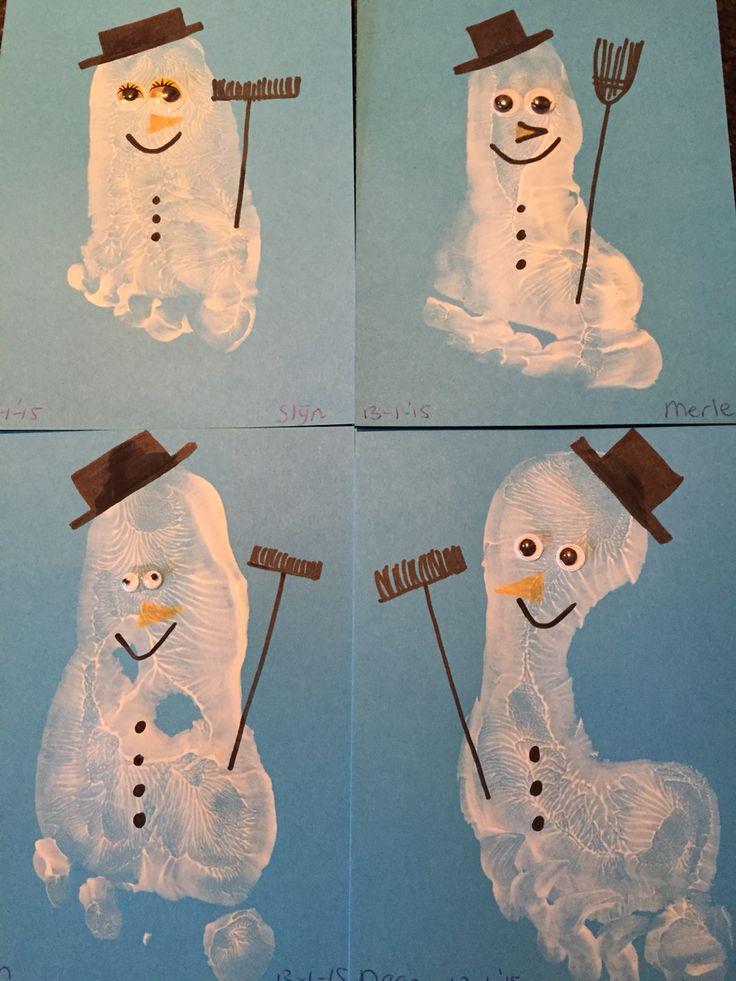 Sneeuwpoppen van voeten!