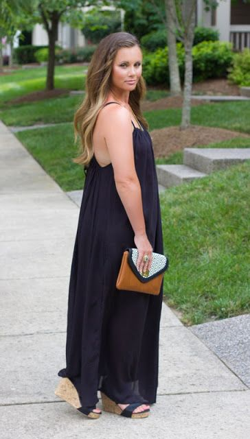 Day to Night Black Maxi Dress - The Mint Julep Boutique