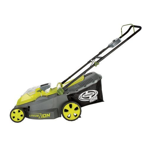 Product review for Sun Joe iON16LM 40 V 16-Inch Cordless Lawn Mower with Brushless Motor. Mow Power to Ya! Ditch the gas, oil, noxious fumes, pull-cords and extension cords and meet the newest addition to the iON tool series – the Sun Joe iON16LM cordless lawn mower! Powered by the same rechargeable 40 V EcoSharp battery system, the iON16LM utilizes the most advanced...