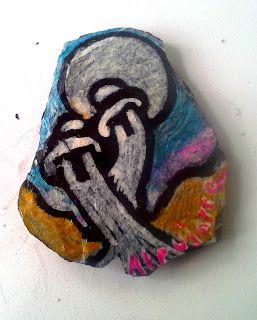 Alpujarra Negra: Imán souvenir Alpujarra colores pintados a mano con diseños exclusivos