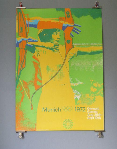 1972 Munich Olympics - Archery   (Otl Aicher)