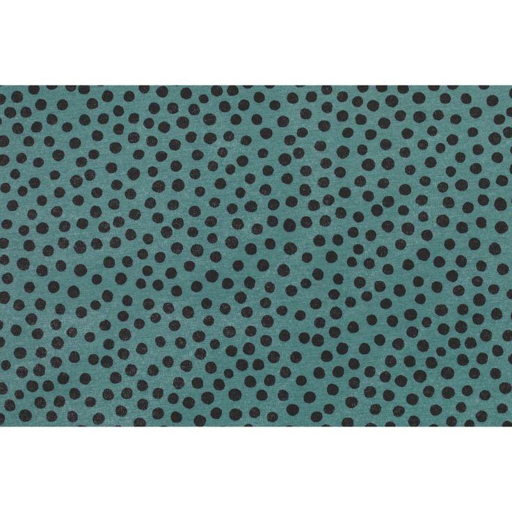 Moderne, groene stof met stippen. 140 cm breed. Deze stof is verkrijgbaar per meter en geschikt voor het maken van gordijnen, tassen, kleding, kussens, dekbedovertrekken en nog veel meer. #stof #diy #creatiefmetstof #zelfmaken #kwantumbelgie