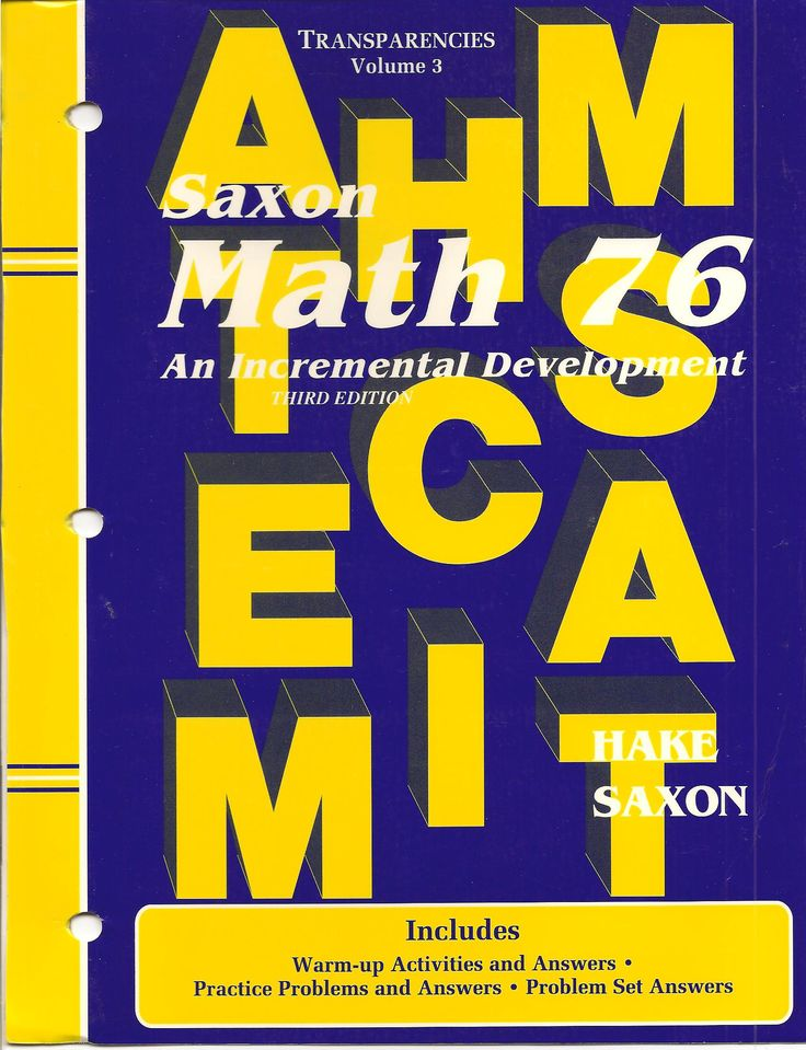 Saxon Math 76 Text solutions Manual 3rd Edition