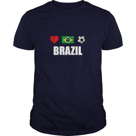 Brazil Football Brazilian Soccer T-shirt - Baseball T-Shirt