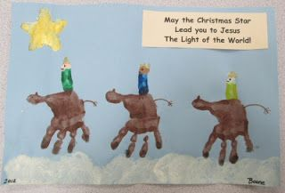 Epiphany - handprint camels for the kings to ride upon - Mrs. Karen's Preschool Ideas: Christmas Crafts for Children