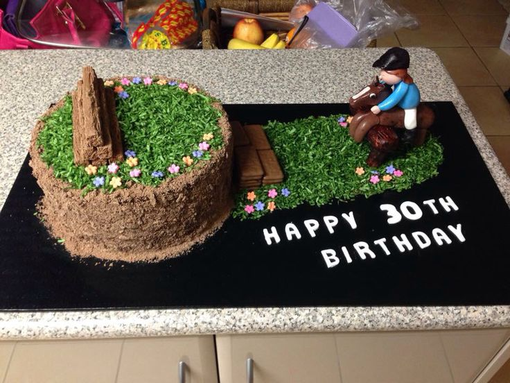 Cross country/horse cake.