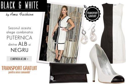 Tendinte 2013 femei: tinute black& white