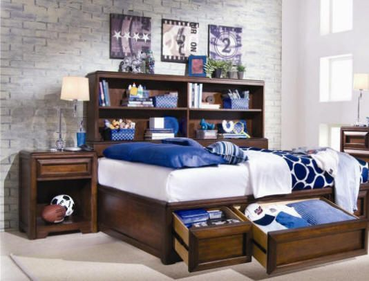 PREVIN CHERRY TWIN SIZE  PLATFORM BED