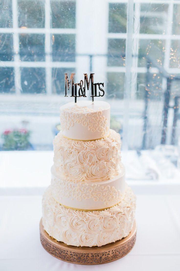 Elegant Nigerian Multi Cultural Wedding - all white wedding cake