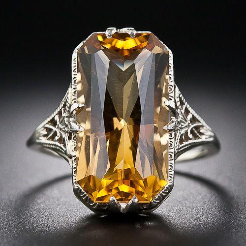 Vintage Citrine Ring Circa 1930. I want a ring like this sooooo bad. My birth stone.