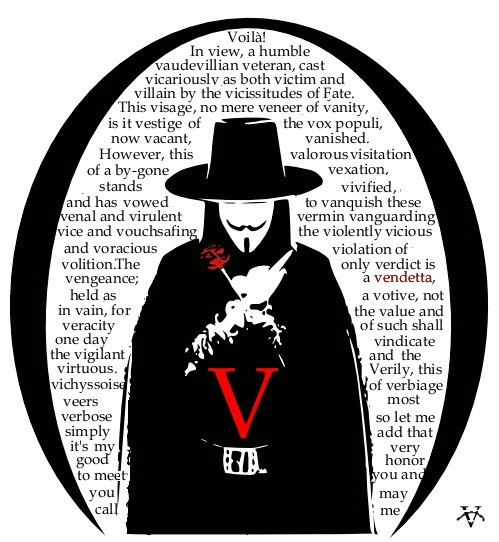 "My favorite quote from ""V for Vendetta"" in such an awesome way. I like, SO MUCH."