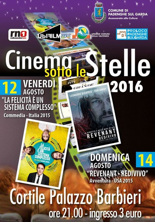 Cinema Sotto le Stelle a Padenghe http://www.panesalamina.com/2016/50142-cinema-sotto-le-stelle-a-padenghe-4.html