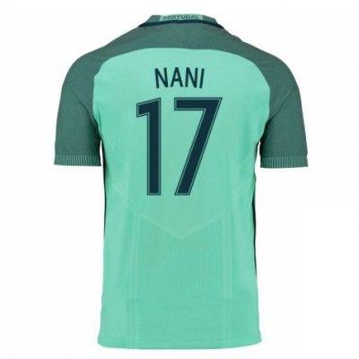 Portugal 2016 Luis Nani 17 Udebane Trøje Kortærmet.  http://www.fodboldsports.com/portugal-2016-luis-nani-17-udebane-troje-kortermet.  #fodboldtrøjer