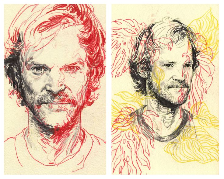 Sketchbook Portraits - Rupert Smissen Illustration