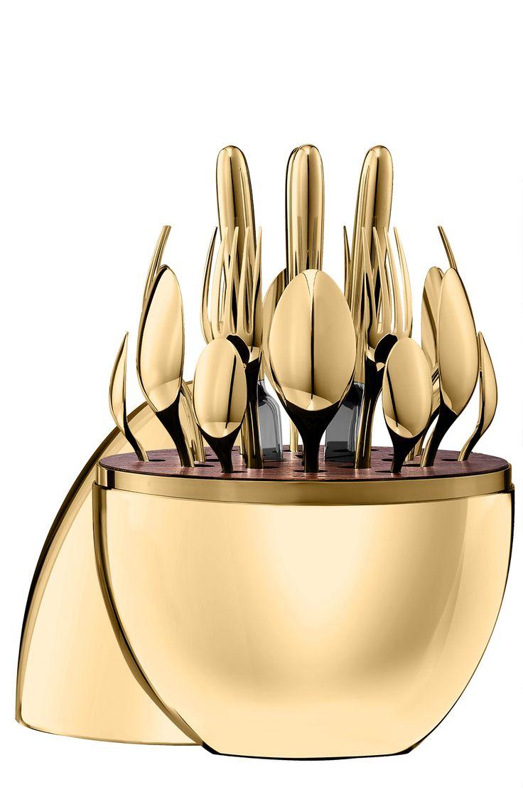 Набор столовых приборов Mood Gold из 24 предметов Christofle, арт. 00865299 в ЦУМ | Фото №1