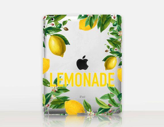 Lemonade Transparent iPad Case For  iPad 2 iPad 3 iPad 4